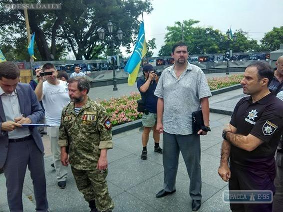 Полицейские не нашли оружия в палаточном городке у мэрии Одессы