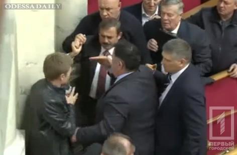 Перед началом заседания Верховной Рады одесские депутаты Гончаренко и Скорик устроили драку