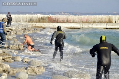 В Одессе крещенские моржи установили Национальный рекорд