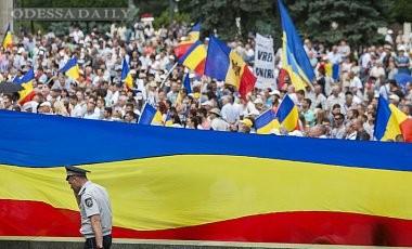 В Кишиневе прошла акция за объединение Молдовы и Румынии