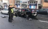 Появилось видео взрыва автомобиля на Бессарабке в Киеве