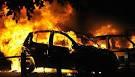 В ДТП загорелся автомобиль