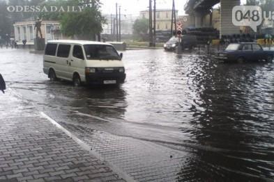 В Одессе дожди затопили Черноморку