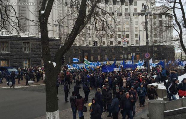 В центре Киева митингуют несколько тысяч представителей профсоюзов