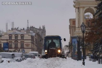 Мэрия Одессы зовет всех на борьбу со снегом