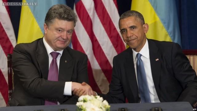Обама о встрече с Порошенко: это будет послание Путину
