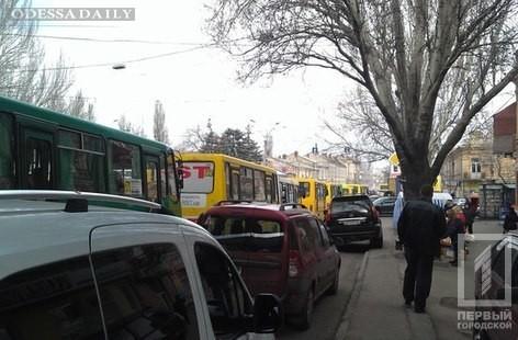 В Одессе наблюдаются семибалльные пробки