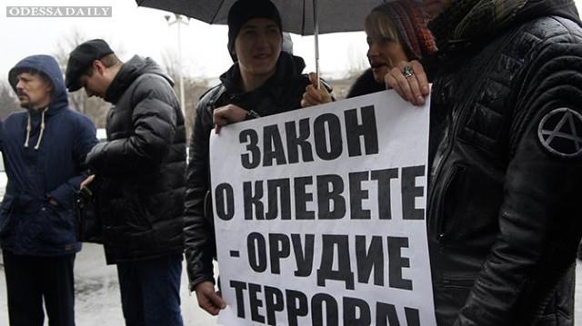 Протестующих против цензуры одесских журналистов принял зам.губернатора Одессы