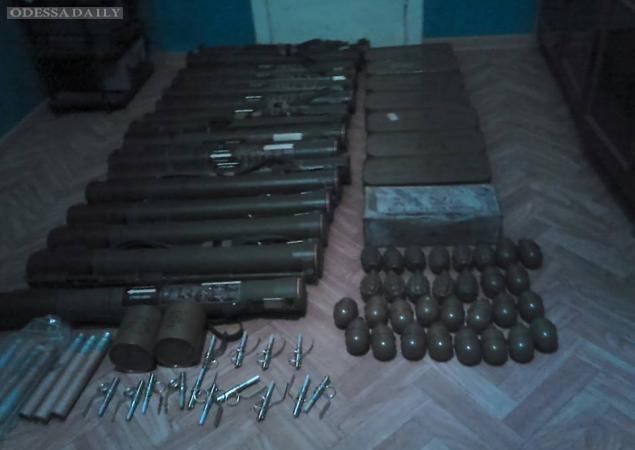 У боевика в Одессе изъят рекордный арсенал оружия. ФОТО
