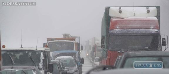 Дорога Одесса – Южный застыла в пробке на участке от Григорьевки почти до Новой Дофиновки