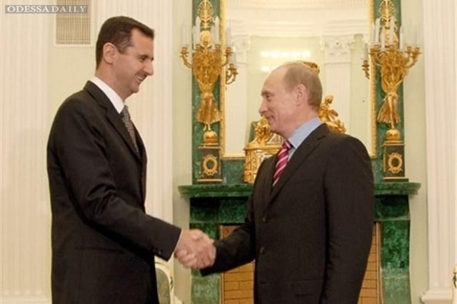Асад во вторник вечером провел переговоры с Путиным в Москве