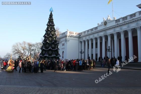 В Одессе зажгла огни главная елка города