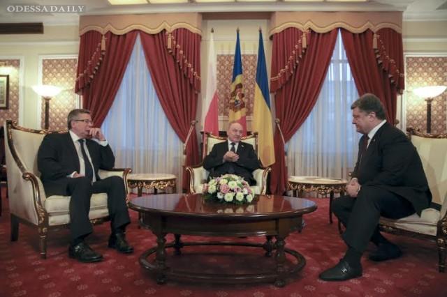 В Кишиневе началась встреча президентов Украины, Польши и Молдовы