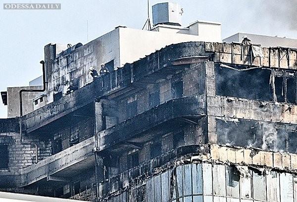 Масштабный пожар в одесской Аркадии с высоты птичьего полета