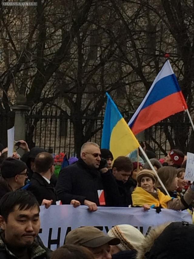 В Москве началось шествие памяти Бориса Немцова