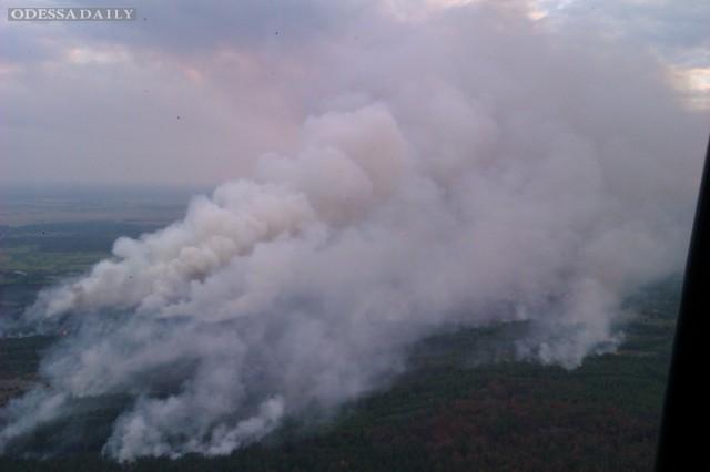 В Чернобыльской зоне пожар распространился на площадь 130 га, работают спасатели ГСЧС