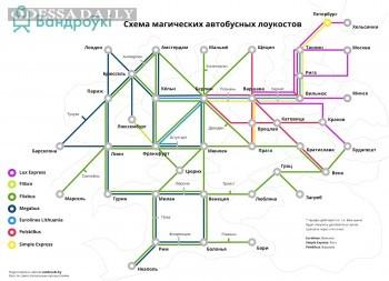 Опубликована схема путешествий лоукост-автобусами по Европе