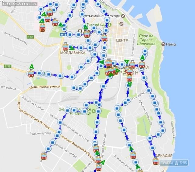 Трамваи и троллейбусы в Одессе изменили схему движения из-за снегопада