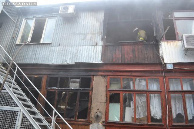Пожар в центре Одессы-  есть жертвы