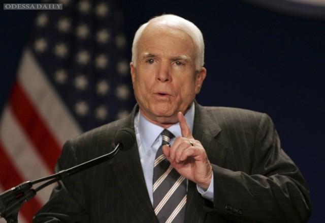 После вывода войск из Сирии Россия может принести кровавую весну в Украину, - Маккейн
