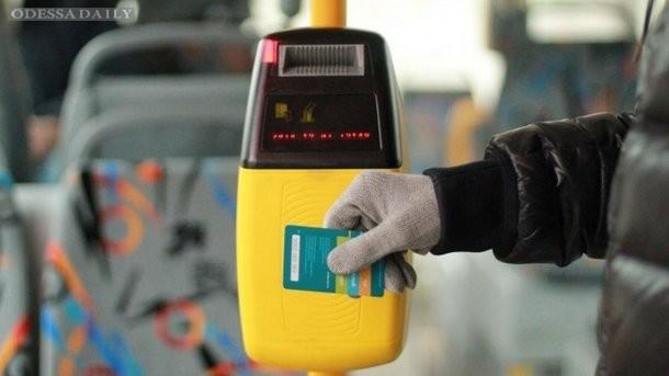 В Одесском трамвае появился приемник для электронных билетов