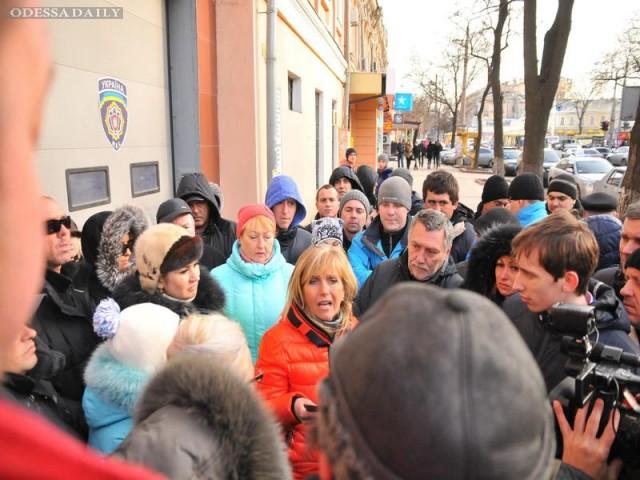 Предприниматели перекрыли Ришельевскую в знак протеста