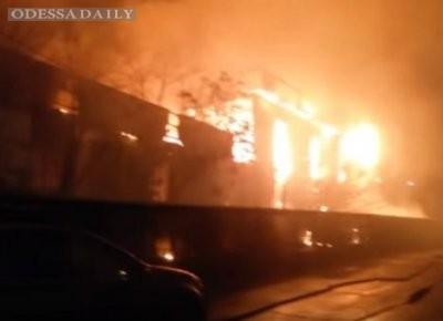 В Одессе сгорел фитнес-центр, в котором тренировались бойцы АТО и патрульные