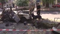 Полиция: взрыв автомобиля на Жуковского имел криминальные приметы, детонировало 600 грамм тротила