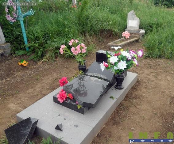 Молодой вандал разгромил кладбище в Одесской области