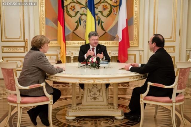 Меркель и Олланд хотят говорить с Порошенко о коррупции в Украине, а не о Путине - СМИ