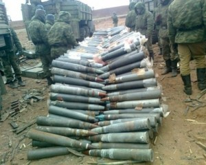 Россия пригнала пять вагонов снарядов в Иловайск