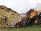 Неосторожное обращение с огнем уничтожило 1 т сена