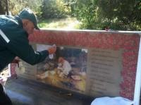Горзелентрест: Вандалы испортили скамейки со стихами Тараса Шевченко