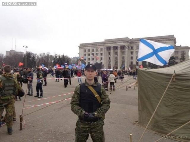 Среди участников митинга в Одессе замечен неонацист из России