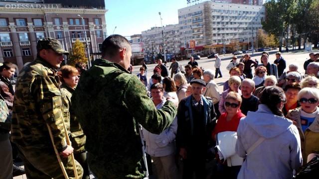 Донецк митингует против выборов ДНР - ФОТО