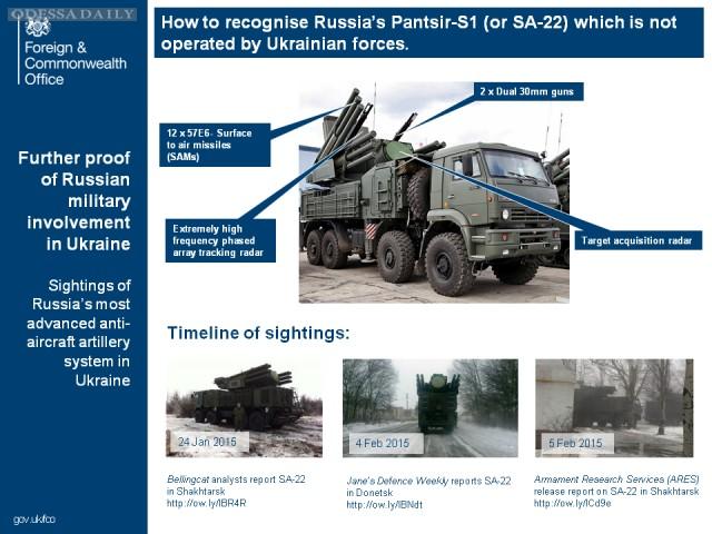 МИД Великобритании обнаружил на Украине российские ЗРПК