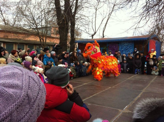В Одесском зоопарке встречают Новый год по китайскому стилю