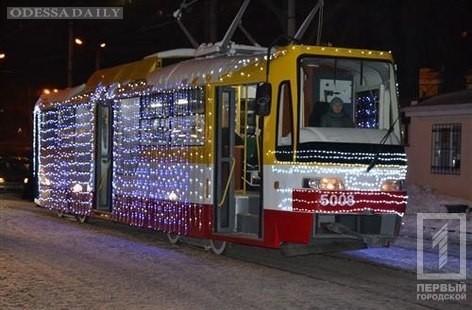В Одессе провели самый оригинальный трамвайный Рождественский вертеп