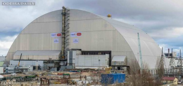 Четвертый энергоблок ЧАЭС накрыли уникальным саркофагом