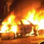 Поджог автопарка в Одесской области