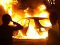 В Раздельной горел автомобиль