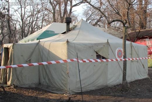 В период стабилизации погоды количество обратившихся в пункты обогрева в Одессе уменьшается
