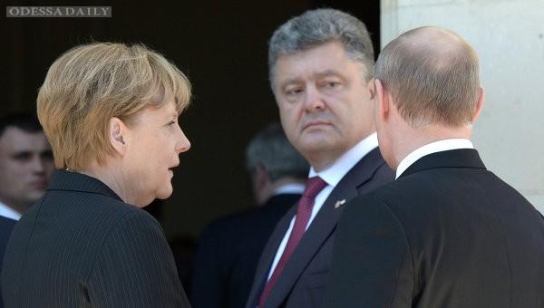 Порошенко, Меркель и Путин сверили позиции по ситуации в Донбассе