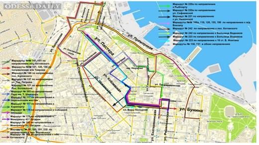 В Одессе временно изменится схема движения транспорта в районе Пересыпи
