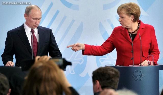 Путин и Меркель разошлись во взглядах на украинский конфликт