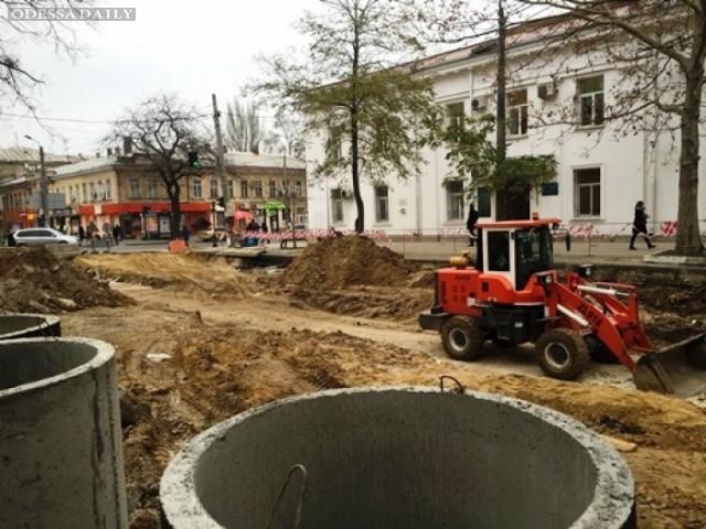 Реконструкция Тираспольской площади: завершается замена инженерных сетей