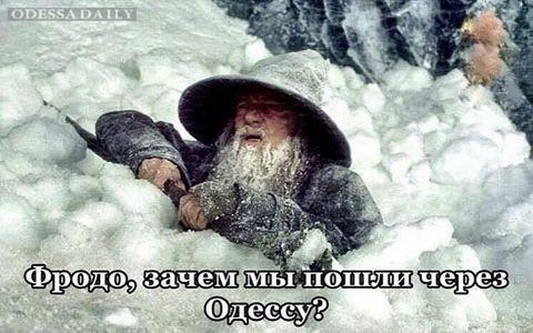 Одесситы радуются снегу в социальных сетях