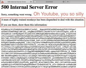Сегодня YouTube перестал работать