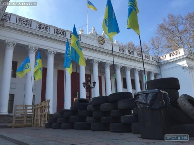 Под Одесской мэрией появился палаточный городок