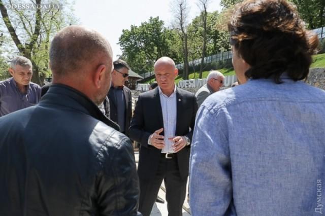 Мэрия: благоустройство Стамбульского парка и работы на Потемкинской лестнице идут к завершению